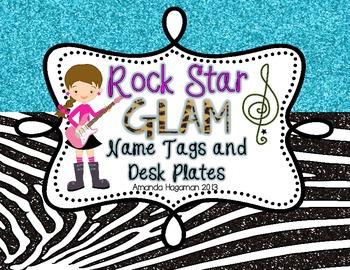 Rock Star GLAM: Name Plates (EDITABLE!)