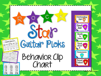 Rock Star Guitar Pick Behavior Clip Chart