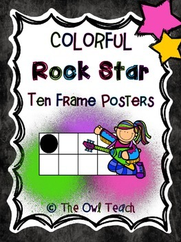 Rock Stars Theme - Ten Frame Posters