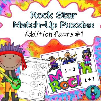 Mental Math Addition Match-Up Puzzles 1