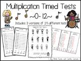 Rock Star Multiplication Timed Tests