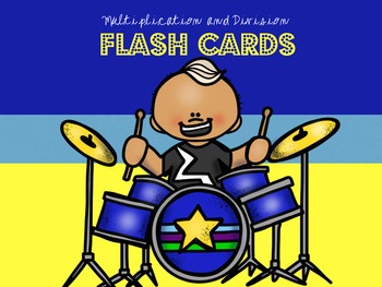 Rock Star Multiplication and Division Flash Cards!