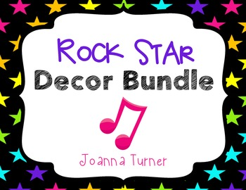 Rock Star Music Room Decor Bundle