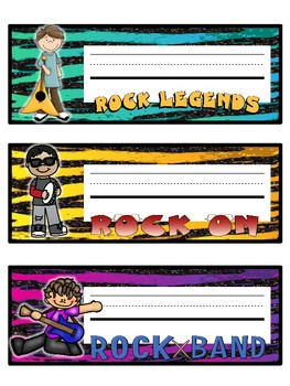 Rock Star Name Plates