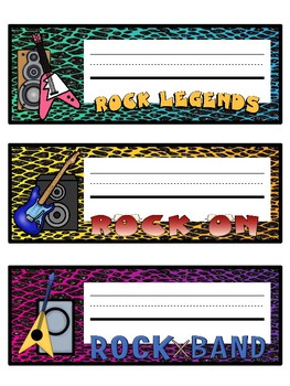 Rock Star Name Plates