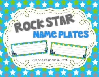 Rock Star Name Plates {Editable}