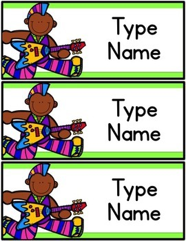 Rock Star Name Tags
