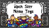 Rock Star Name Tags [Editable]
