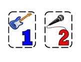 Rock Star Number Labels