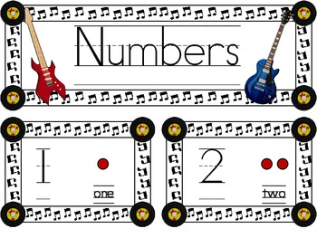 Rock Star Theme ~ Number Wall