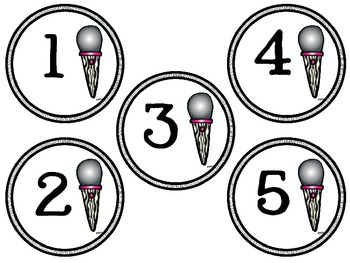 Rock Star Numbers 1-30 in circles
