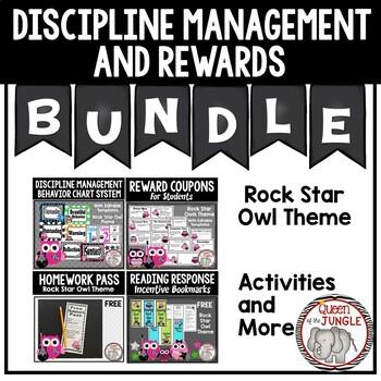 Discipline Management and Reward Bundle Rock Star Owl Theme