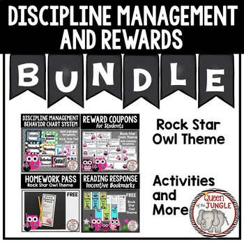 Discipline Management and Reward Bundle - Rock Star Owl Theme