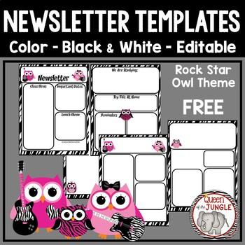 Newsletter Templates Editable Free