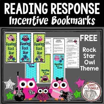 Reader Response and Incentive Bookmarks Free