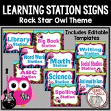 Learning Station Signs