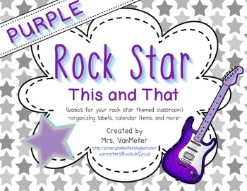 Rock Star Purple (This and That) Classroom Decor