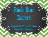 Rock Star Racers with Geometry for 2nd and 3rd Grade