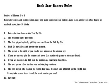 Rock Star Racers with Place Value for 2nd Grade