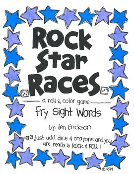 Rock Star Races:  Fry Sight Words