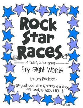 Rock Star Races:  Fry Sight Words