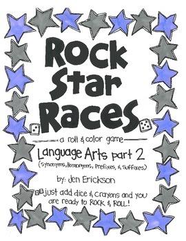 Rock Star Races:  Language Arts (part 2)