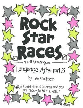 Rock Star Races:  Language Arts (part 3)