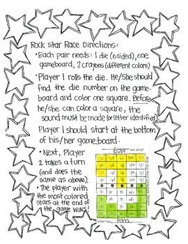 Rock Star Races:  Letters and Sounds