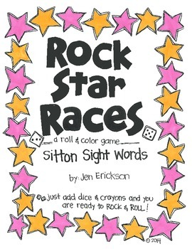 Rock Star Races:  Sitton Sight Words