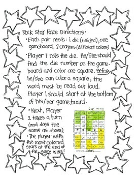 Rock Star Races:  Sounds, Blends, and Digraphs