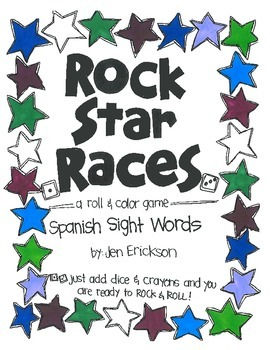 Rock Star Races: Spanish Sight Words
