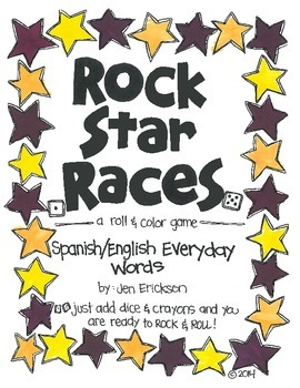 Rock Star Races: Spanish/English Everyday Words (for the Bilingual Classroom)