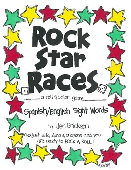 Rock Star Races:  Spanish/English Sight Words for the Bilingual Classroom