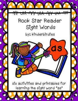 """Rock Star Reader Program: Sight Word  """"as"""""""