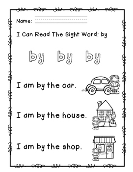"Rock Star Reader Program: Sight Word  ""by"""