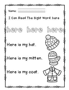"""Rock Star Reader Program: Sight Word  """"here"""""""