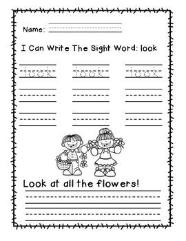 """Rock Star Reader Program: Sight Word  """"look"""""""