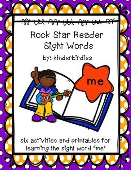 """Rock Star Reader Program: Sight Word  """"me"""""""