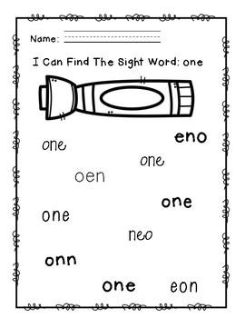 """Rock Star Reader Program: Sight Word  """"one"""""""
