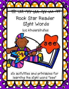 """Rock Star Reader Program: Sight Word  """"see"""""""
