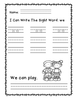 "Rock Star Reader Program: Sight Word  ""we"""