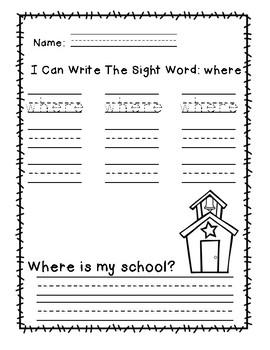 "Rock Star Reader Program: Sight Word  ""where"""