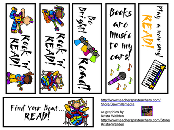 Rock Star Readers - Reading Logs, Bookmarks & More