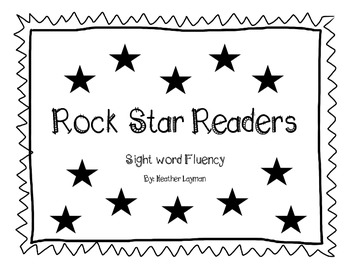 Rock Star Readers- sight word practice
