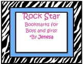 Rock Star Reading Bookmarks Rockstar