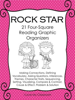 Reading Graphic Organizers {21 Rock Star Templates}