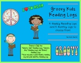 Groovy Reading Logs: Daily and Monthly Recording Sheets  ELA Groovy Kid Theme
