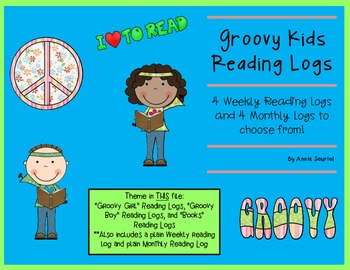 Groovy Reading Logs: Daily and Monthly Recording Sheets  E