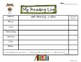 Sporty Kids Reading Logs: Daily and Monthly Recording Sheets ELA Sports Theme