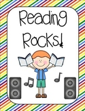 Rock Star Reading Posters for Library or Reading Corner